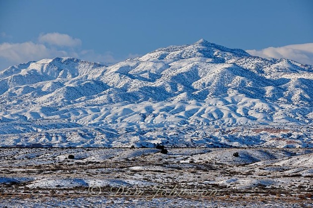 This I 25 Rest Stop was an ideal locale for photographing the fresh snow near the Rio Salado sand dunes in New Mexico.