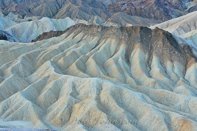 Eroded formations near Zabriskie Point