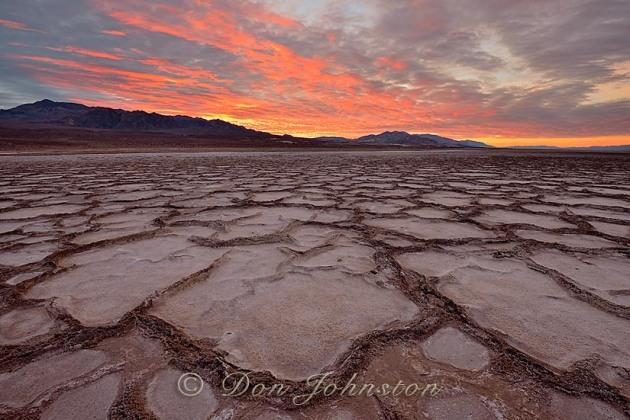 Cottonball Basin polygons at sunrise