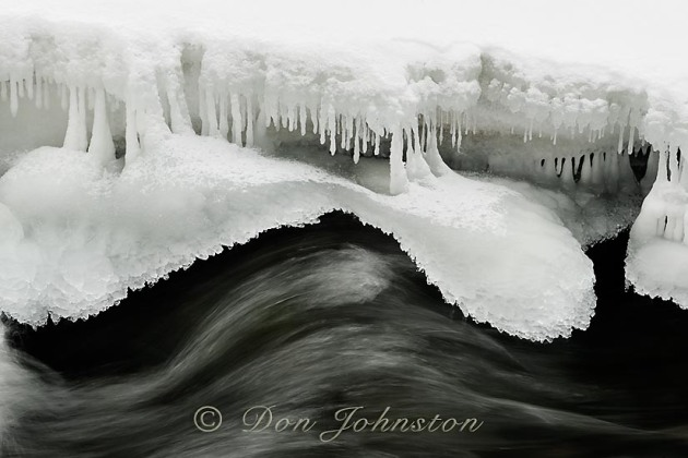 Ice formations along Junction Creek