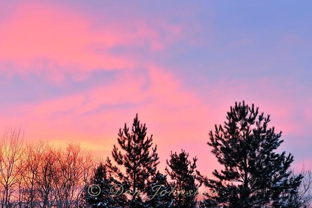 Christmas morning sunrise