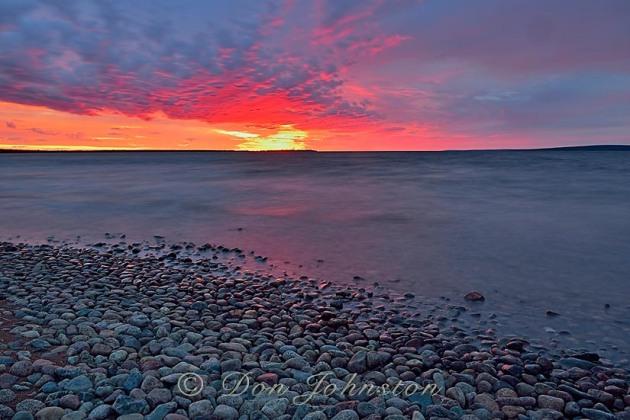 Ennadai Lake at dawn ''Red sky in the morning, sailor's warning'